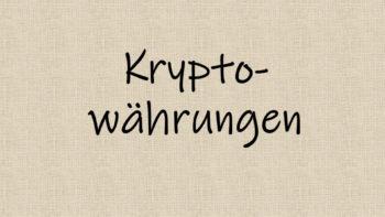warum kryptowährungen